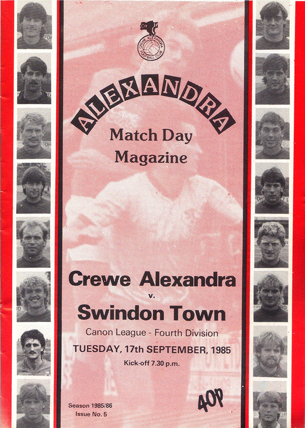 <b>Tuesday, September 17, 1985</b><br />vs. Crewe Alexandra (Away)