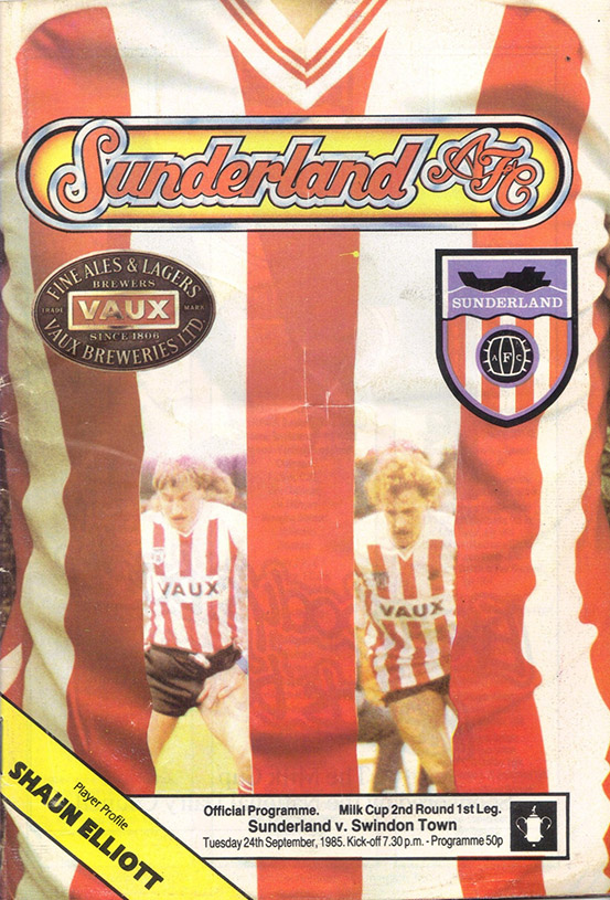 <b>Tuesday, September 24, 1985</b><br />vs. Sunderland (Away)