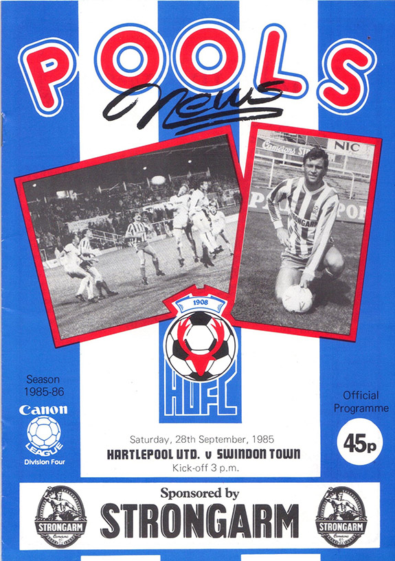 <b>Saturday, September 28, 1985</b><br />vs. Hartlepool United (Away)