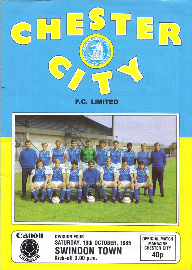 <b>Saturday, October 19, 1985</b><br />vs. Chester City (Away)