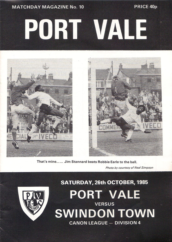 <b>Saturday, October 26, 1985</b><br />vs. Port Vale (Away)