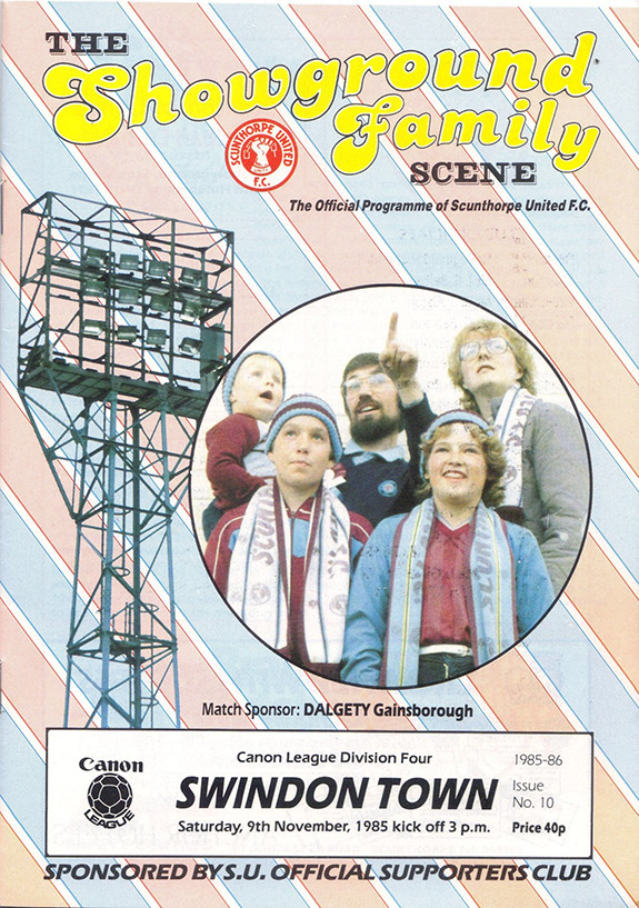 <b>Saturday, November 9, 1985</b><br />vs. Scunthorpe United (Away)