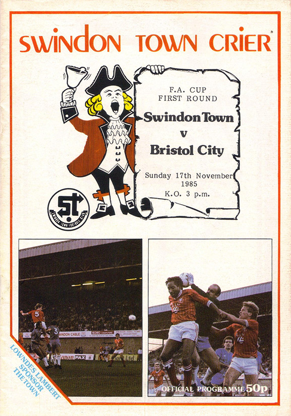 <b>Sunday, November 17, 1985</b><br />vs. Bristol City (Home)
