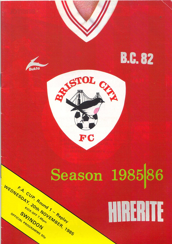 <b>Wednesday, November 20, 1985</b><br />vs. Bristol City (Away)
