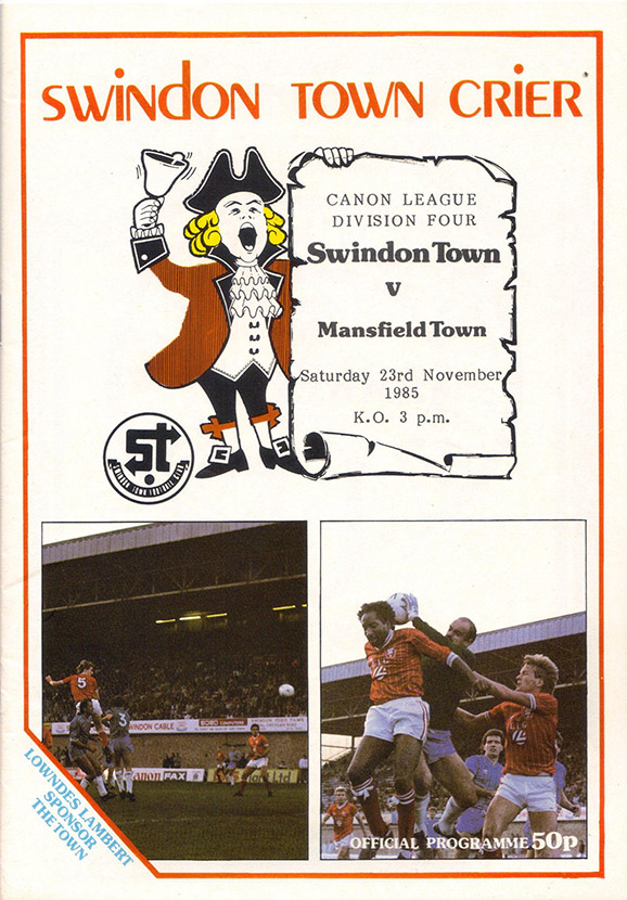 <b>Saturday, November 23, 1985</b><br />vs. Mansfield Town (Home)