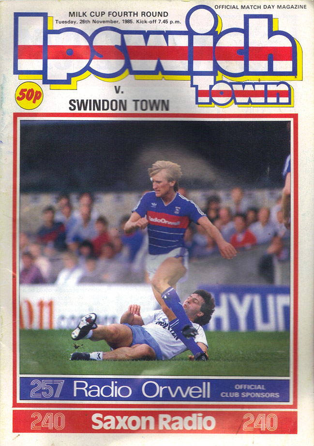 <b>Tuesday, November 26, 1985</b><br />vs. Ipswich Town (Away)