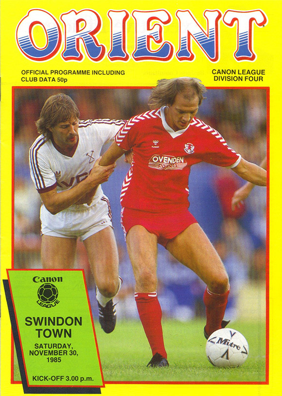 <b>Saturday, November 30, 1985</b><br />vs. Orient (Away)