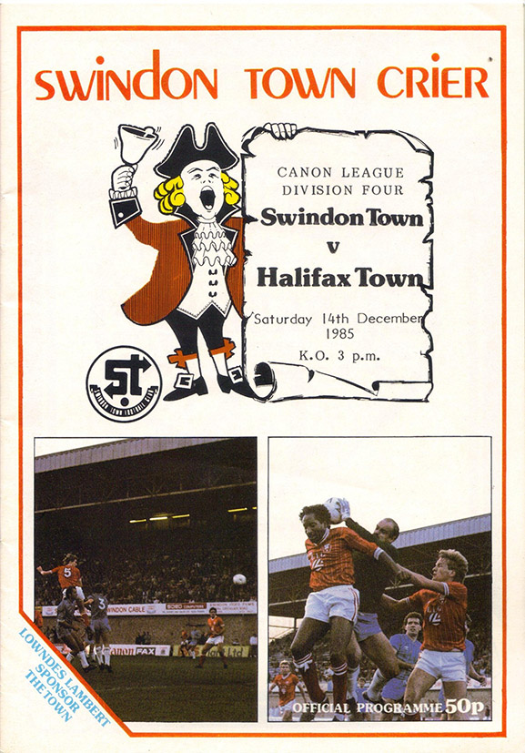 <b>Saturday, December 14, 1985</b><br />vs. Halifax Town (Home)