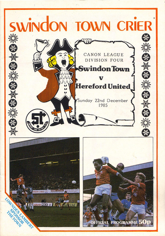 <b>Sunday, December 22, 1985</b><br />vs. Hereford United (Home)
