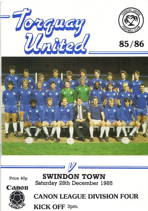 <b>Saturday, December 28, 1985</b><br />vs. Torquay United (Away)