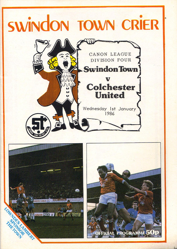 <b>Wednesday, January 1, 1986</b><br />vs. Colchester United (Home)