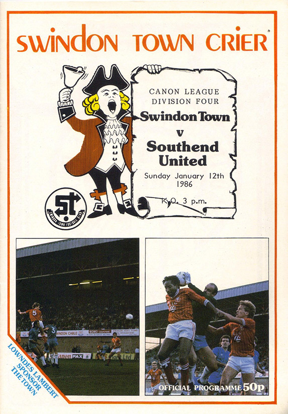 <b>Sunday, January 12, 1986</b><br />vs. Southend United (Home)