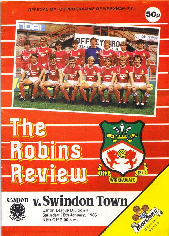 <b>Saturday, January 18, 1986</b><br />vs. Wrexham (Away)