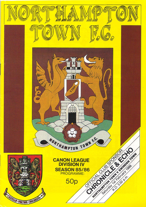 <b>Saturday, February 1, 1986</b><br />vs. Northampton Town (Away)