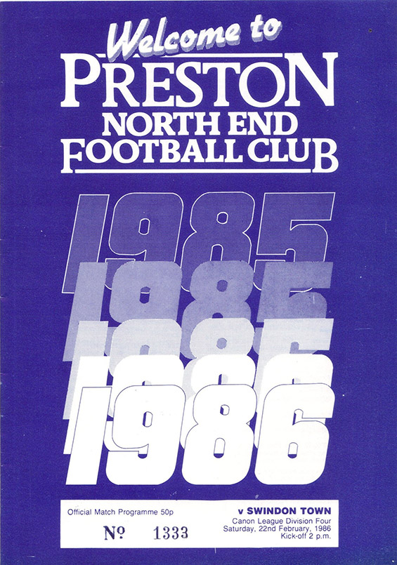 <b>Saturday, February 22, 1986</b><br />vs. Preston North End (Away)