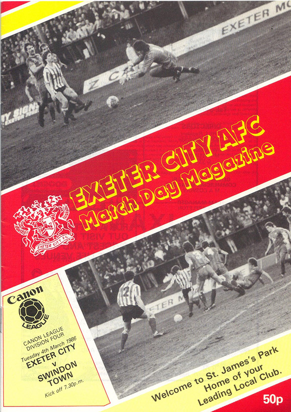 <b>Tuesday, March 4, 1986</b><br />vs. Exeter City (Away)