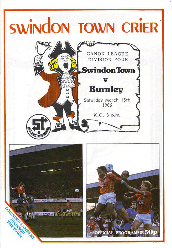 <b>Saturday, March 15, 1986</b><br />vs. Burnley (Home)