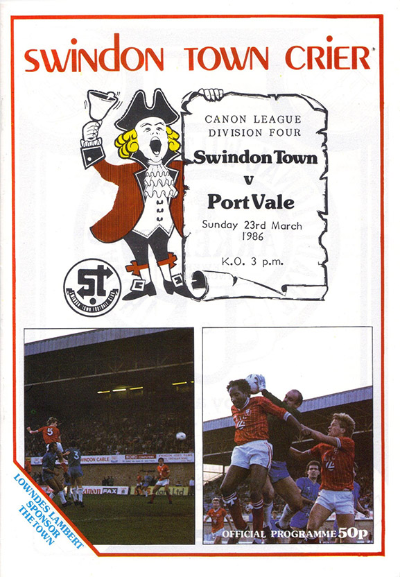 <b>Sunday, March 23, 1986</b><br />vs. Port Vale (Home)