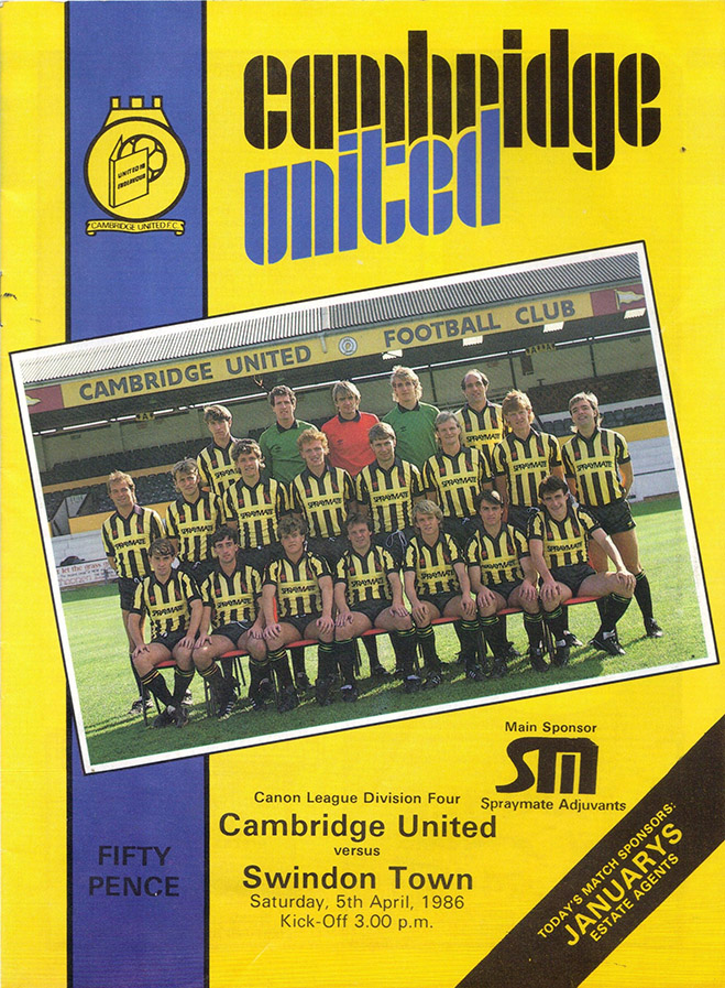 <b>Saturday, April 5, 1986</b><br />vs. Cambridge United (Away)