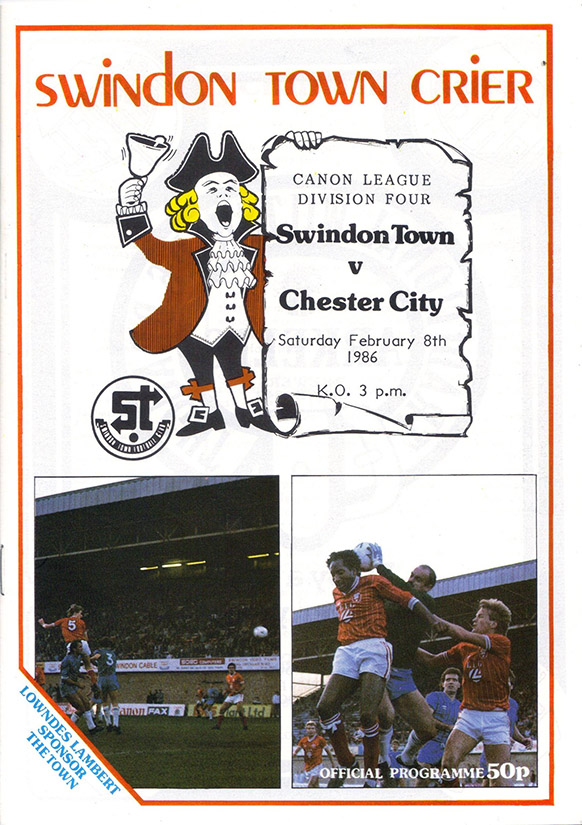 <b>Tuesday, April 8, 1986</b><br />vs. Chester City (Home)