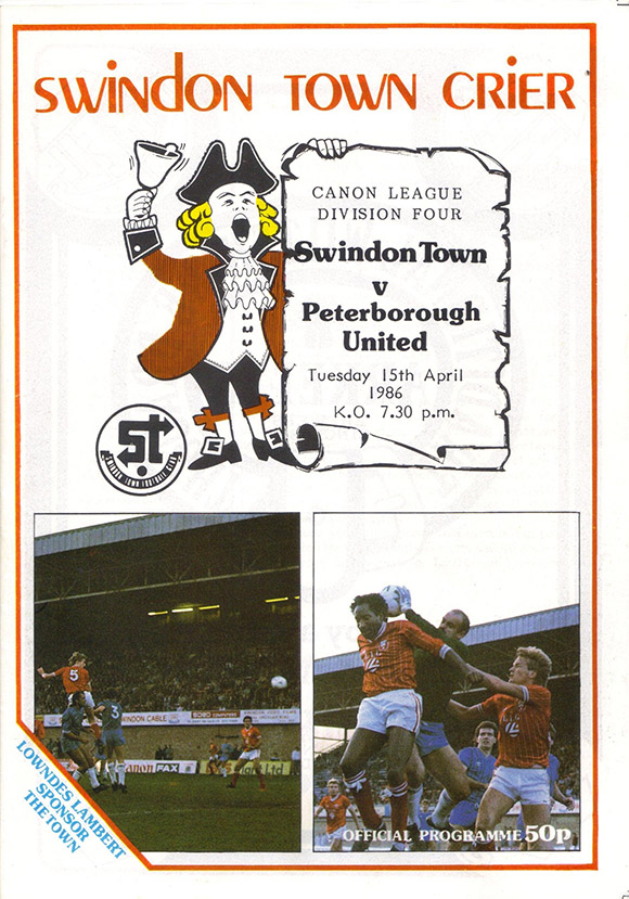 <b>Tuesday, April 15, 1986</b><br />vs. Peterborough United (Home)