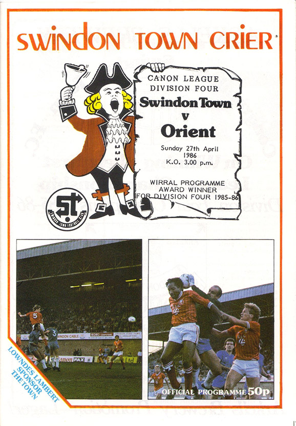 <b>Sunday, April 27, 1986</b><br />vs. Orient (Home)