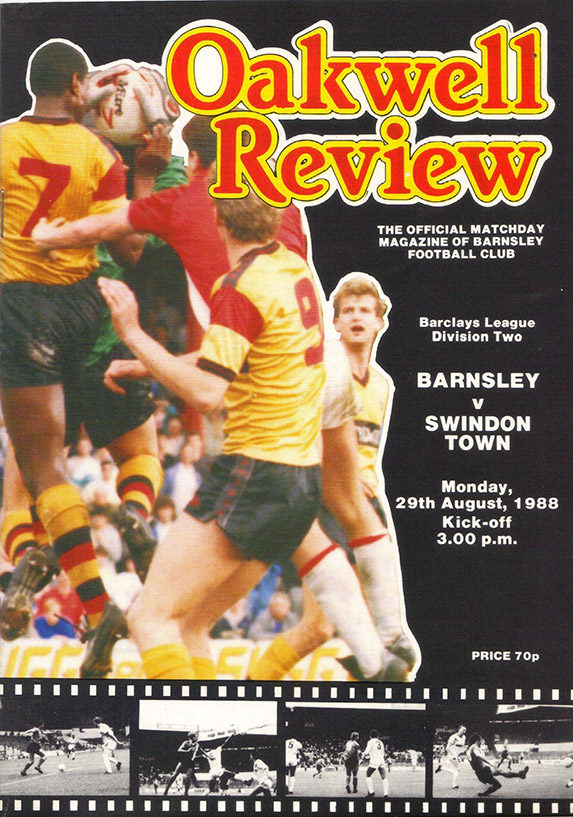 Monday, August 29, 1988 - vs. Barnsley (Away)