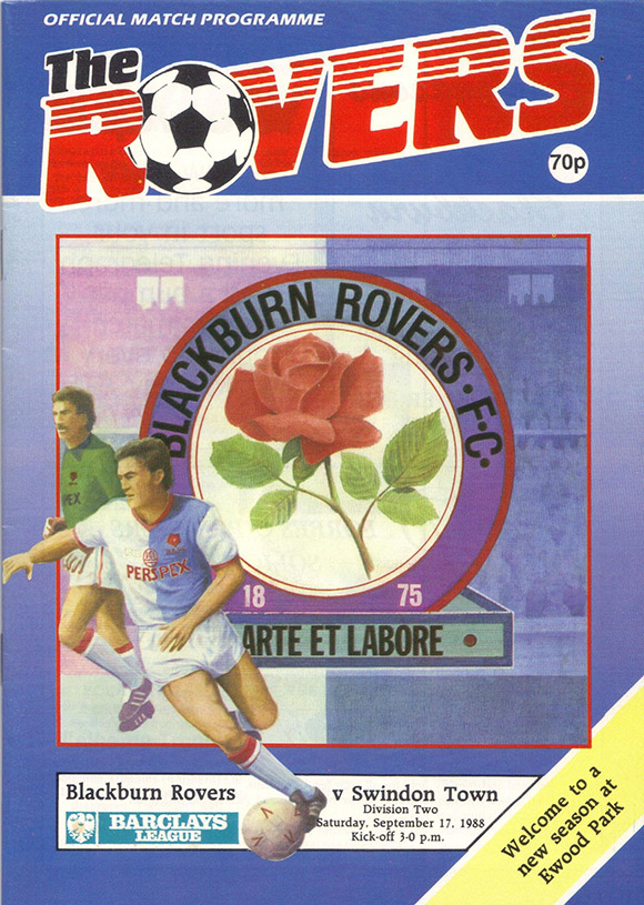 Saturday, September 17, 1988 - vs. Blackburn Rovers (Away)