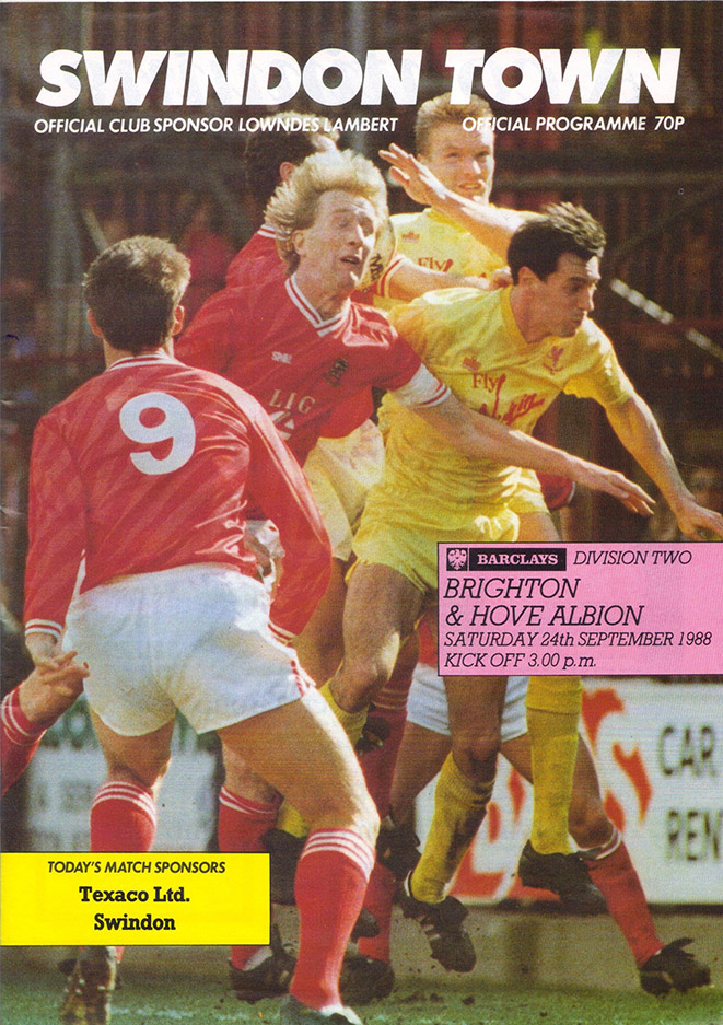 Saturday, September 24, 1988 - vs. Brighton and Hove Albion (Home)