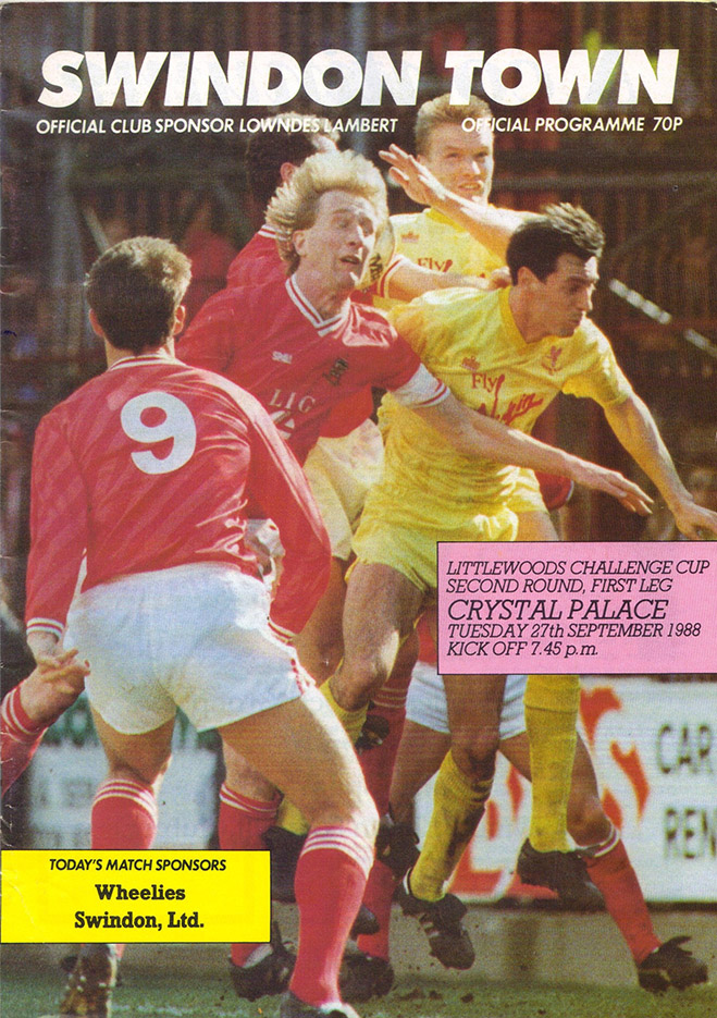 Tuesday, September 27, 1988 - vs. Crystal Palace (Home)