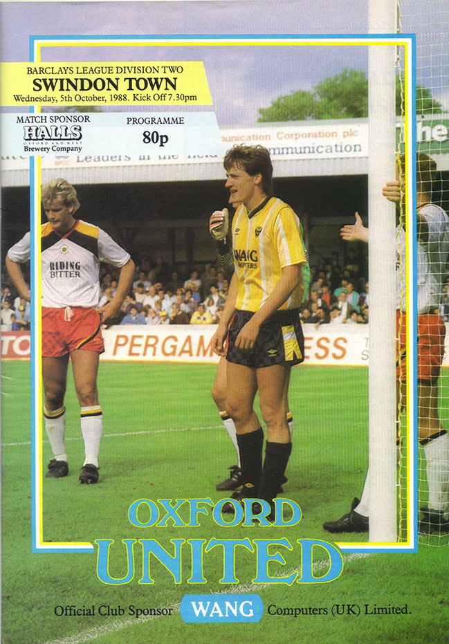 Wednesday, October 5, 1988 - vs. Oxford United (Away)
