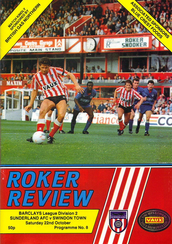 Saturday, October 22, 1988 - vs. Sunderland (Away)