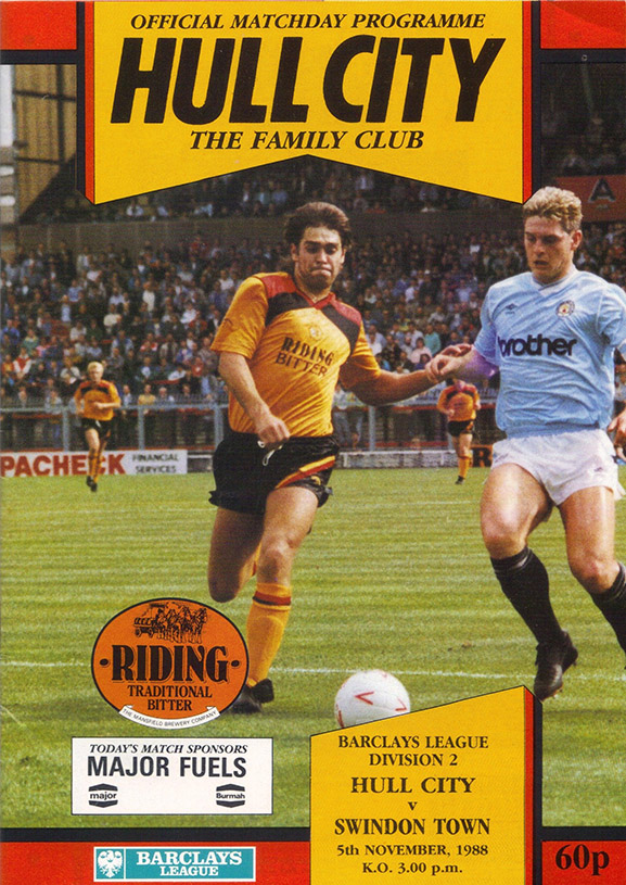 Saturday, November 5, 1988 - vs. Hull City (Away)