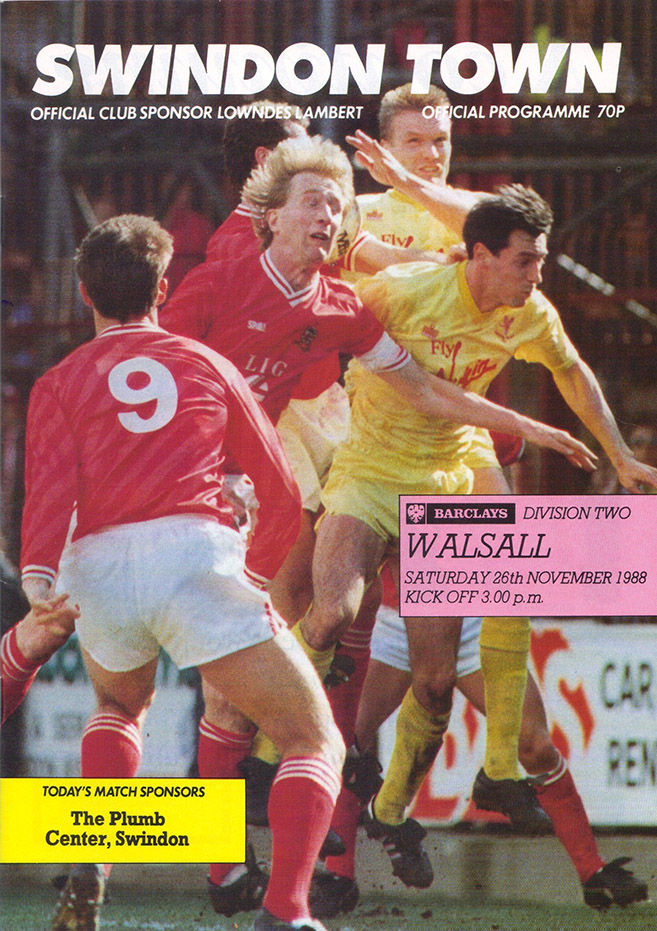 Saturday, November 26, 1988 - vs. Walsall (Home)