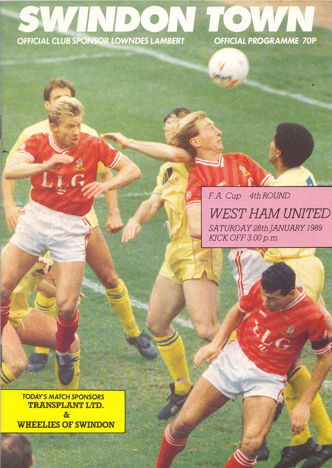 Saturday, January 28, 1989 - vs. West Ham United (Home)
