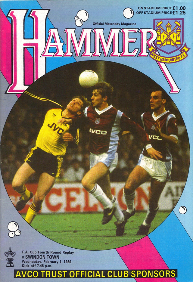 Wednesday, February 1, 1989 - vs. West Ham United (Away)