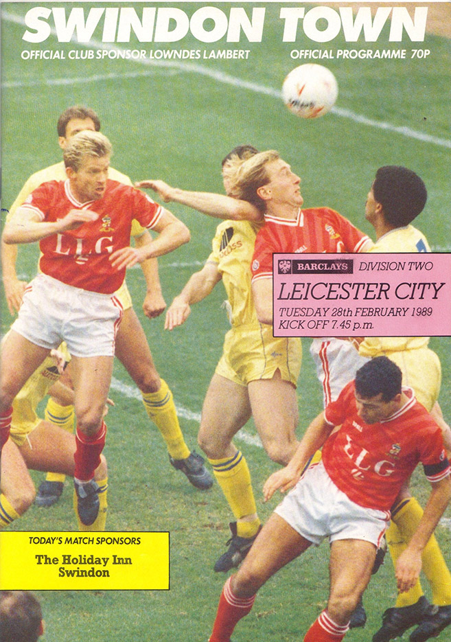 Tuesday, February 28, 1989 - vs. Leicester City (Home)