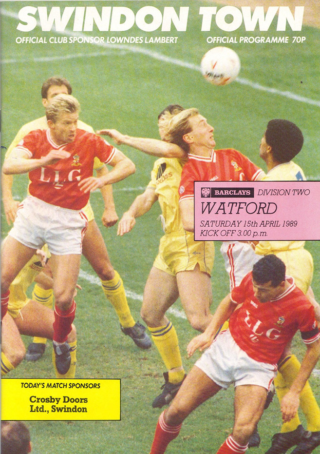 Saturday, April 15, 1989 - vs. Watford (Home)