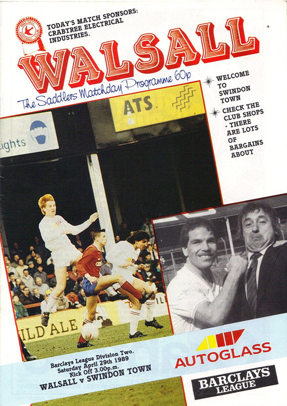 Saturday, April 29, 1989 - vs. Walsall (Away)