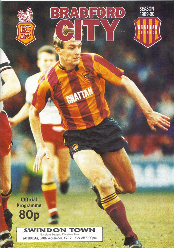 <b>Saturday, September 30, 1989</b><br />vs. Bradford City (Away)