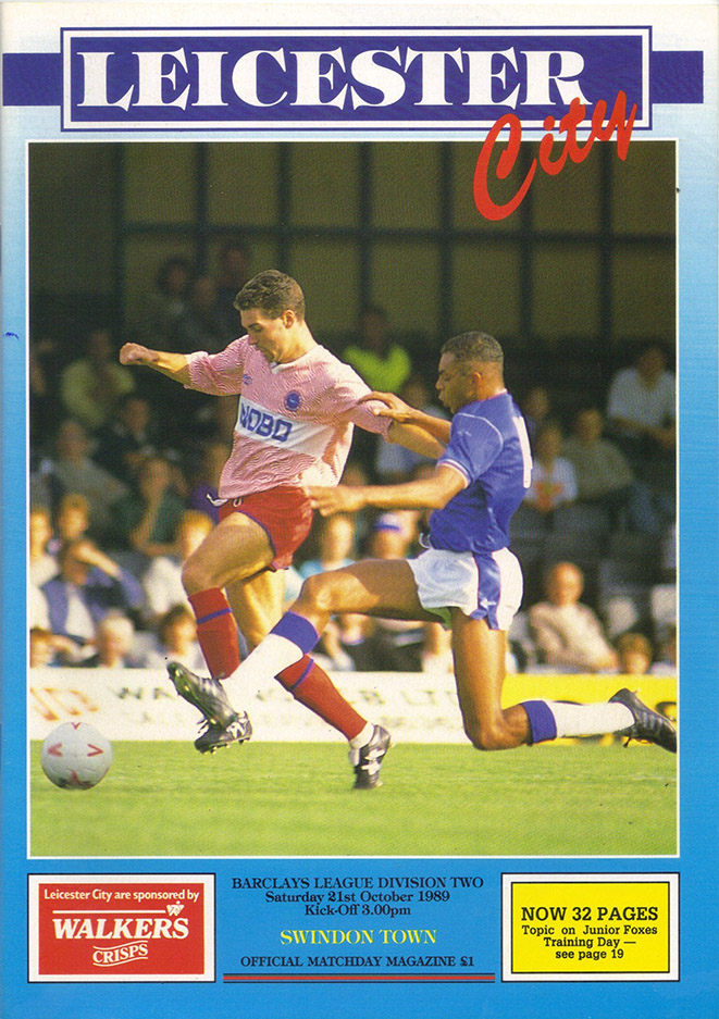 <b>Saturday, October 21, 1989</b><br />vs. Leicester City (Away)