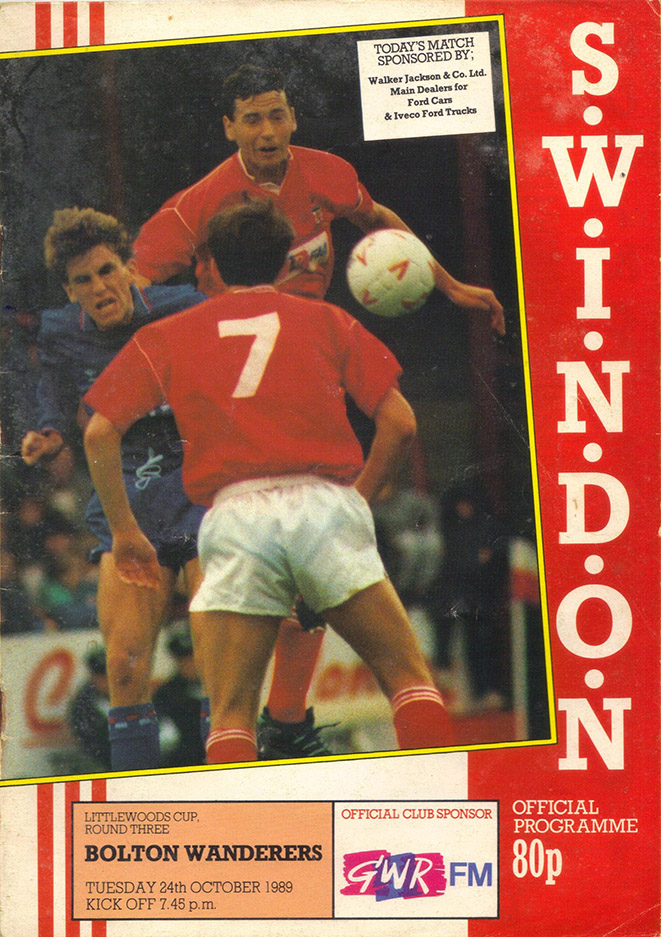 <b>Tuesday, October 24, 1989</b><br />vs. Bolton Wanderers (Home)