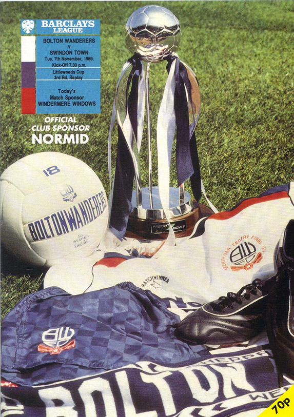 <b>Tuesday, November 7, 1989</b><br />vs. Bolton Wanderers (Away)