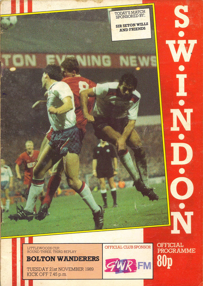 <b>Tuesday, November 21, 1989</b><br />vs. Bolton Wanderers (Home)