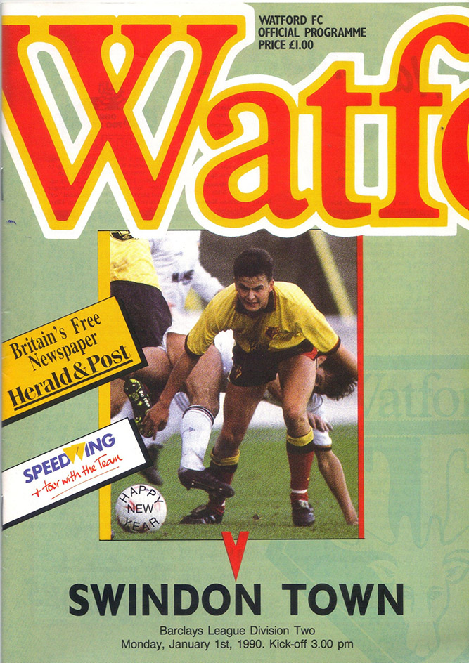 <b>Monday, January 1, 1990</b><br />vs. Watford (Away)