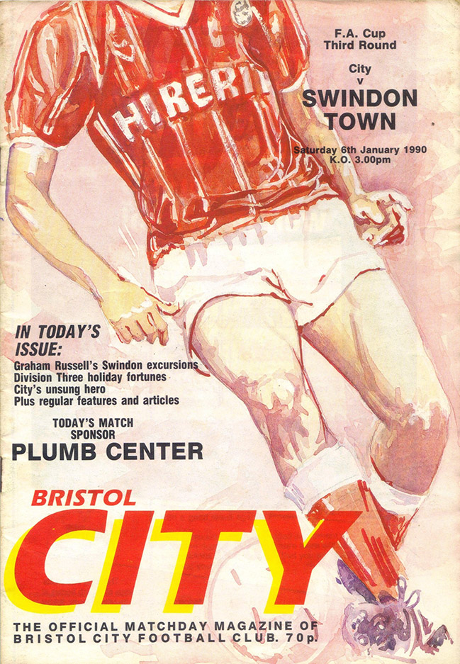 <b>Saturday, January 6, 1990</b><br />vs. Bristol City (Away)