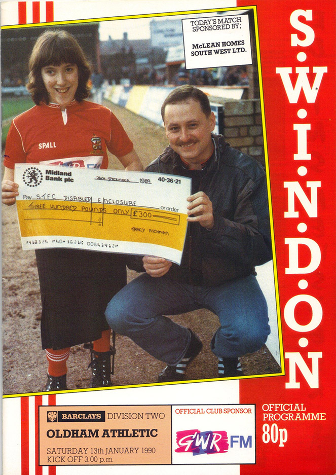 <b>Saturday, January 13, 1990</b><br />vs. Oldham Athletic (Home)