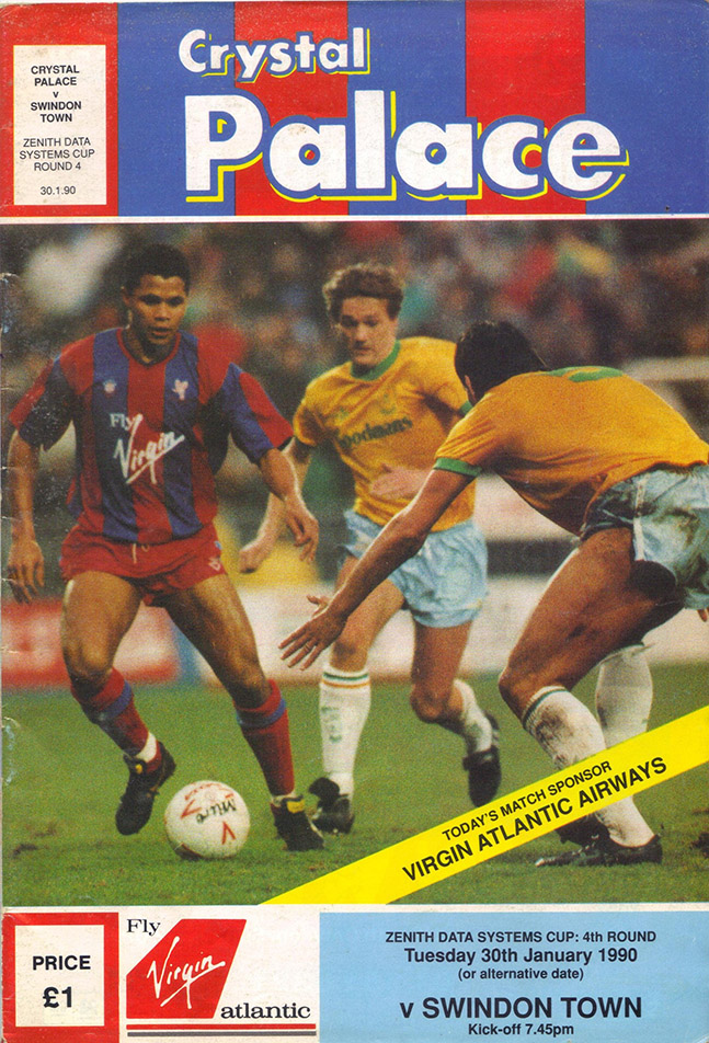 <b>Tuesday, February 13, 1990</b><br />vs. Crystal Palace (Away)