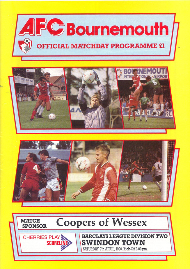 <b>Saturday, April 7, 1990</b><br />vs. AFC Bournemouth (Away)