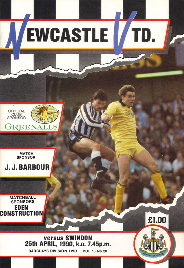 <b>Wednesday, April 25, 1990</b><br />vs. Newcastle United (Away)